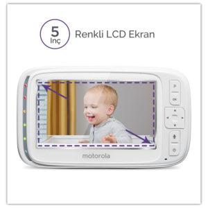 """Motorola Comfort 50 5"""" LCD Ekran Dijital Bebek Kamerası"""